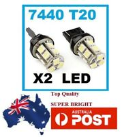 2X T20 7440 Wedge 13 LED 5050 Car Reverse Turn Light Lamp Bulb 12V White