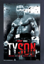 MIKE TYSON BOXING RECORD IRON 13x19 FRAMED GELCOAT POSTER FIGHTING HEAVYWEIGHT!!