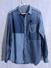 Sunny Sports Japan Patchwork Triple Stitch Seam Denim Shirt Size 42