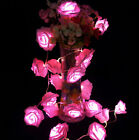 20 LED Fairy String Lights Rose Flower Wedding HOME Party Christmas Decoration