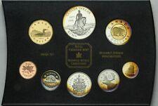 1998 CANADIAN PROOF SET 8 COINS GEM CHOICE WONDERFUL TONED UNC COLOR BU (DR)