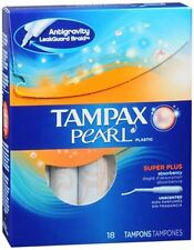 Tampax Pearl Tampons Super Plus Unscented 18 Each