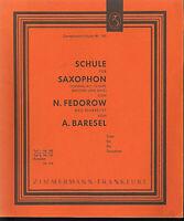 N. FEDOROW : SCHULE FÜR SAXOPHON Teil 1