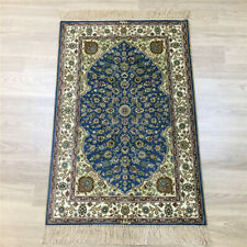 YILONG 2'x3' Blue Praying Handmade Silk Classic Rugs Hand Knotted Carpets 116B