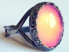 Silver Dream of Night Flowers - Mood Ring - Sterling Silver 925