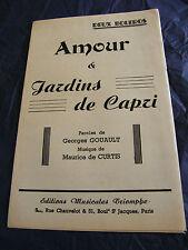 Partitur amour & Gärten Capri Maurice Curtis music -blatt