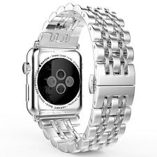 Accessories Strap Bracelet Band For Apple Watch 42mm Stainless Steel Mesh Black