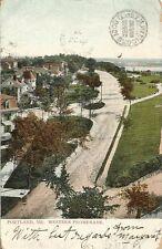 Postcard Maine Portland Western Promenade 1908 Printed in Germany