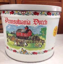 Sturgis Pretzel House Tin Pennsylvania Dutch Amish Art Bertels Can Wilkes Barre