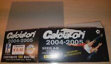 BOX BUSTINE VUOTO FIGURINE CALCIATORI PANINI 2004/05 NUOVA EDICOLA ALBUM 2005