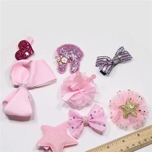 10Pcs Bowknot Headwear Set Baby Girls Hair Clips Princess Crown Flower Clips ST