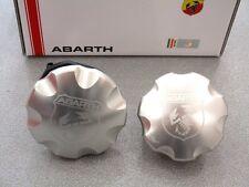 KIT TAPPO OLIO E BENZINA ABARTH 500 CINQUECENTO originale alluminio oil fuel cap