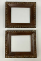 "Set of 2 Vintage Antique Wooden Art Picture Mirror Frames No Glass 8 x 10"" AA"