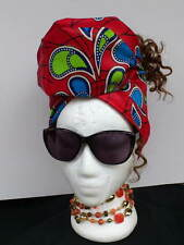 AFRICAN DESIGN PRINT FABRIC BAZIN HEAD WRAP SCARF