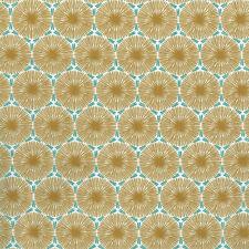 Textiles français THE DANDELION CLOCKS fabric - GOLD & GREEN