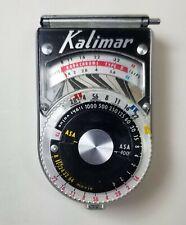 Kalimar Model A-1 Light Exposure Meter Vintage with Black Leather Case Japan