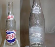 Vintage RWB Double Dot Pepsi Cola Soda Bottle Jonesboro Arkansas 12 oz 1947
