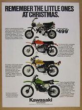 1978 Kawasaki KV75 KD100 KM100 KX80 Mini-Bikes minibike photo vintage print Ad