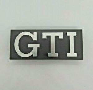 ⭐🇫🇷 NEUF MONOGRAMME CALANDRE GOLF GTI MK1 VW VOLKSWAGEN RABBIT LOGO GRILLE NEW