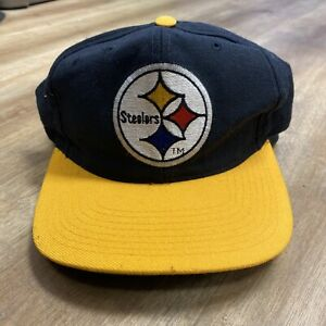 PITTSBURGH STEELERS NFL FOOTBALL VINTAGE 90s STARTER ALL WOOL SNAPBACK HAT
