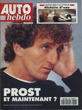 AUTO HEBDO n°803 du 5 Novembre 1991 GP AUSTRALIE ALPINA A610 TURBO CORVETTE LT1