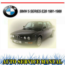 BMW 5 SERIES E28 1981-1988 WORKSHOP SERVICE REPAIR MANUAL ~ DVD