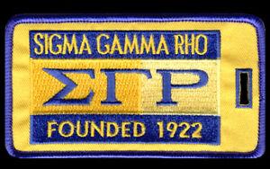 "Sigma Gamma Rho ""1922"" Luggage Tag  L@@K AT THIS!!"
