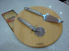 Tramontina 3pc pizza set with cutting board,pizza cutter/slicer,serving utensil