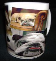 BULLDOG DESIGN CERAMIC COFFEE MUG. LIMITED EDITION GIFT FOR DOG LOVERS *