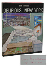 Delirious New York ~ REM KOOLHAAS ~ Signed First Edition 1978 ~ 1st Printing