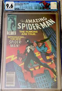 AMAZING SPIDER-MAN #252 CGC 9.6 OW/W ASM LABEL BLACK COSTUME NEWSSTAND (1984) NM