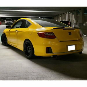 Flat Black 648 HPDL Type Rear Trunk Spoiler Wing For 2013~18 Honda Accord Coupe