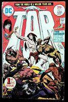 TOR #1 the Caveman, Joe Kubert Cover (1975 DC Comics) F Comic Book