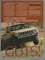 1983 TOYOTA pickup advertisement, Toyota ad, SR5 4x4 pickup