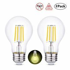 HOLA Edison Bulb LED Light Bulbs, Filament Light Bulbs A19 4W (40W (2 Pack)
