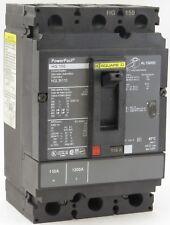 Square D Hgl36110 3 Pole 110 Amp 600V Feed-Thru Molded Case Circuit Breaker