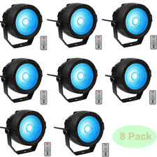 Stage Lights 15W COB RGB LED Par Light by RF Remote and DMX Contol Party 8 Pack