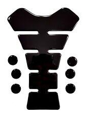 Premium shiny black motorcycle tank pad Honda Yamaha Suzuki Ducati Kawasaki