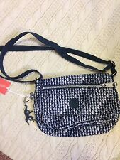 NWT Small Kipling Silvia If bag in rare Diamond Dash pattern   HTF!