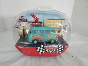 """Disney Store Exclusive CARS Movie 6"""" Talking Fillmore 2006 Pull Back Action"""