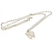 More details for chelsea fc silver plated pendant & chain design 2