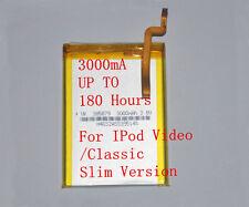 3000mAh Upgraded SSD Battery for iPod 7th Classic 120GB 160GB 30GB