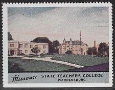 Usa Cinderella stamp: See Missouri: State Teachers College, Warrensburg - dw763u