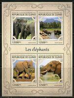 GUINEA 2017 ELEPHANTS SHEET MINT NH