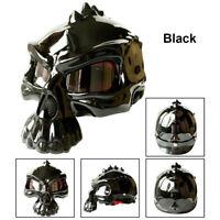 Motorcycle MotorBike Skull Helmet Half Face Monster Death Ghost ABS Durable