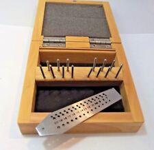 Maschi e filiera 0,7-2 mm 14 pz con box in legno Screw Plate Set watch tools