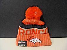 Denver Broncos New Era Knit Hat On Field 2017 Sideline Beanie Stocking Cap