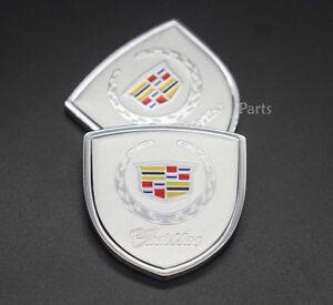 2x Car Sticker Emblem Badge Auto Decal Decoration Logo For Cadillac XTS SRX CT6