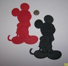 4 Mickey Mouse Premade PAPER Die Cuts / Scrapbook & Card Making