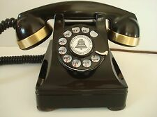 Antique Western Electric telephone Brass banded  Model 302  Restored Working